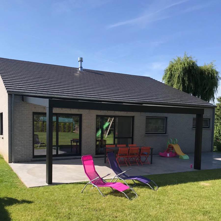 vitralux veranda pergola extension habitation châssis & portes Mons Brabant Wallon Wallonie